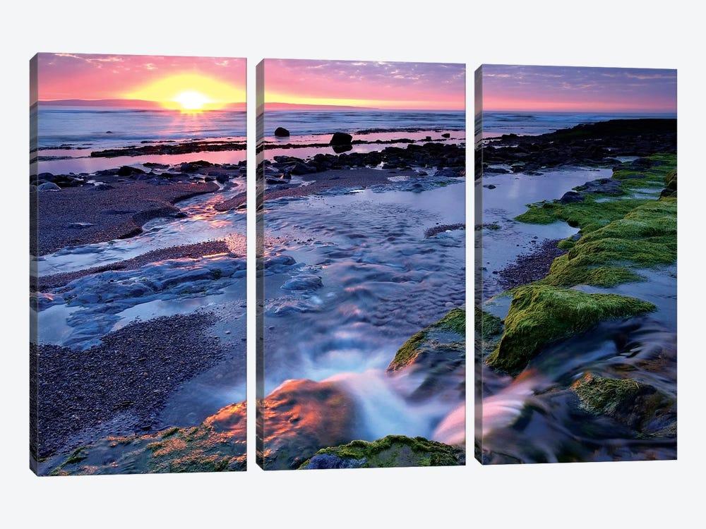 Killala Bay, Co Sligo, Ireland, Sunset Over Water by Irish Image Collection 3-piece Canvas Art Print