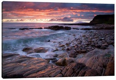 Mullaghmore Head, Co Sligo, Ireland, Sunset Over The Atlantic Canvas Art Print