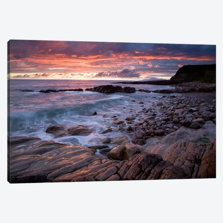 Mullaghmore Head, Co Sligo, Ireland, Sunset Over The Atlantic Canvas Print #IIM66} by Irish Image Collection Canvas Wall Art