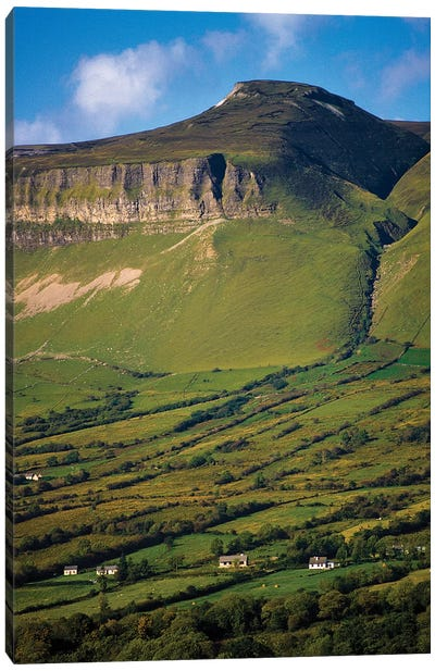 Ben Bulben, County Sligo, Ireland, Glacial Valley Landscape Canvas Art Print