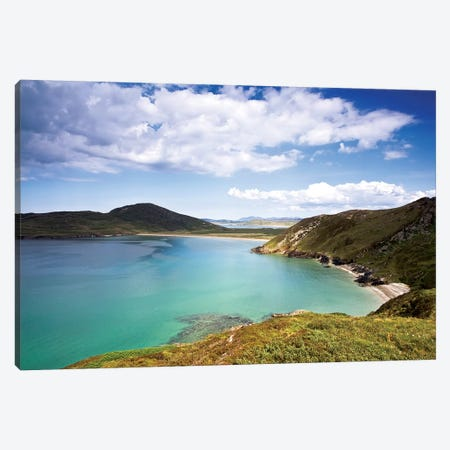Tranarossan Bay, County Donegal, Ireland; Vista Of Irish Seascape Canvas Print #IIM79} by Irish Image Collection Canvas Wall Art