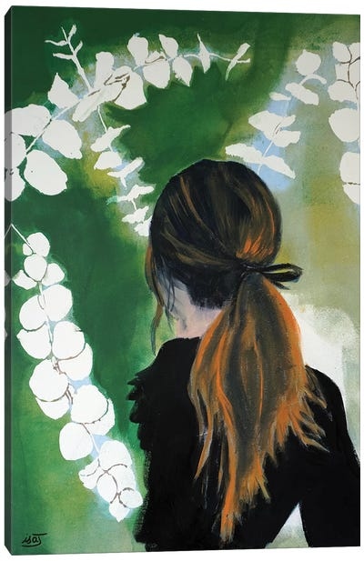 Eucalyptus Girl Canvas Art Print