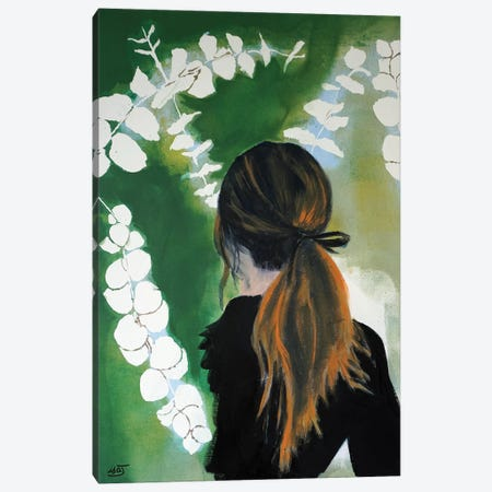 Eucalyptus Girl Canvas Print #IJO14} by Isabelle Joubert Art Print