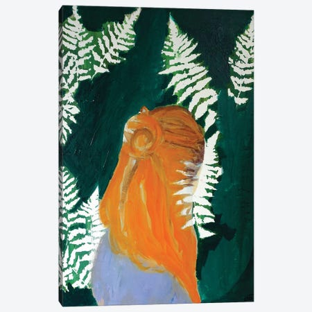 Fern Girl Canvas Print #IJO15} by Isabelle Joubert Canvas Art Print