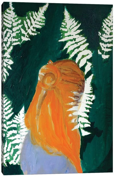 Fern Girl Canvas Art Print