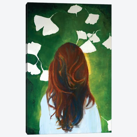 Gingko Girl Canvas Print #IJO18} by Isabelle Joubert Canvas Art