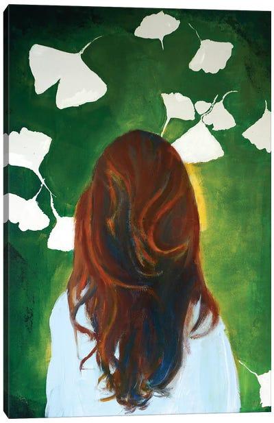 Gingko Girl Canvas Art Print