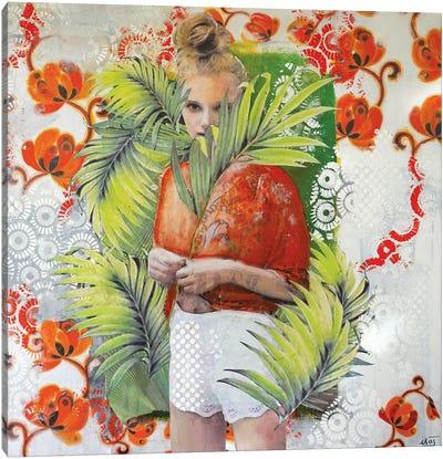 Orange Ingenue Canvas Art Print