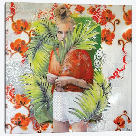 Orange Ingenue Canvas Print #IJO30} by Isabelle Joubert Canvas Art