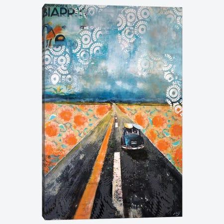 Rendez Vous À Biarritz 3-Piece Canvas #IJO32} by Isabelle Joubert Canvas Artwork