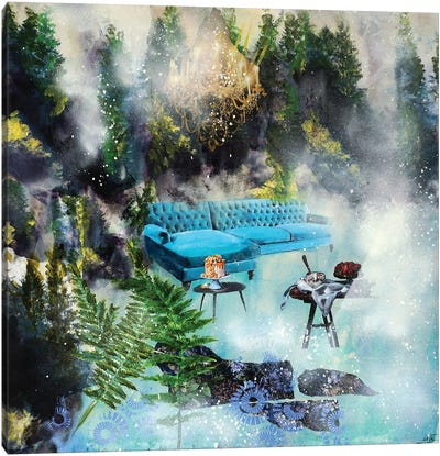 The Blue Feast Forest Canvas Art Print