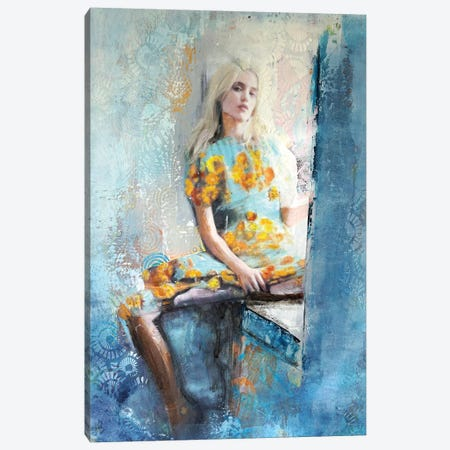 The Hippie Chic Girl Canvas Print #IJO35} by Isabelle Joubert Art Print