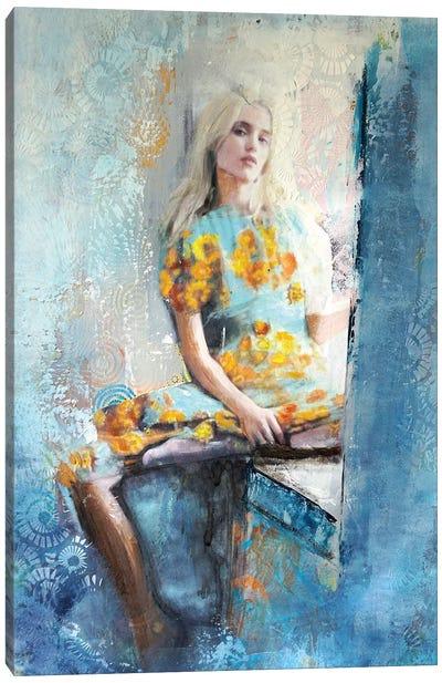 The Hippie Chic Girl Canvas Art Print