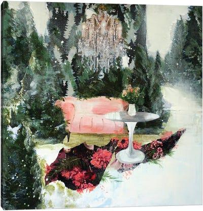 Velvet Sofa Canvas Art Print