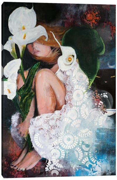 White Lily Canvas Art Print