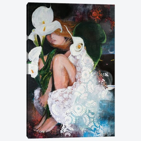 White Lily Canvas Print #IJO42} by Isabelle Joubert Art Print