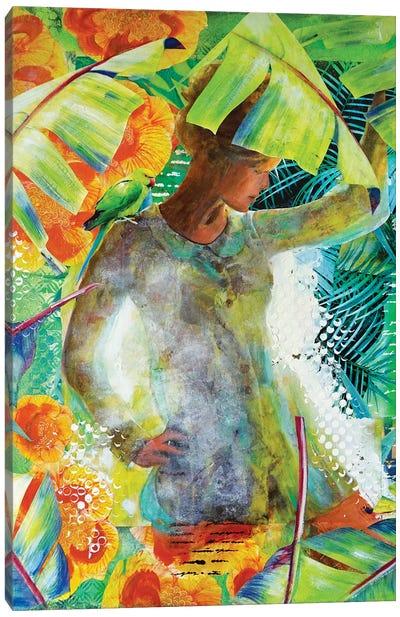 Green Sixties Canvas Art Print