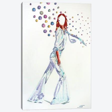 Bubble Au Grand Pantalon Canvas Print #IJO47} by Isabelle Joubert Canvas Artwork