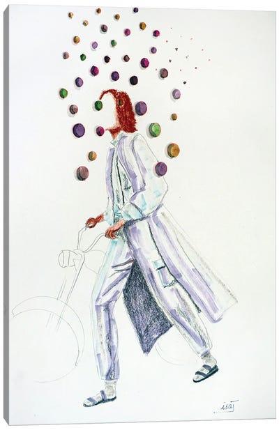 Bubble À La Moto Canvas Art Print
