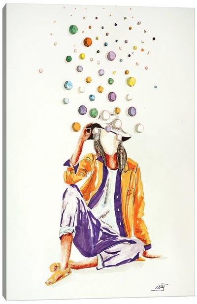 Bubble Orange Canvas Art Print
