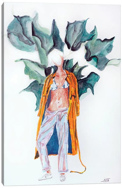 Trench Orange Canvas Art Print