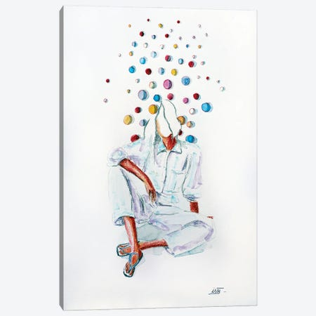 Bubble Assise Canvas Print #IJO57} by Isabelle Joubert Canvas Print