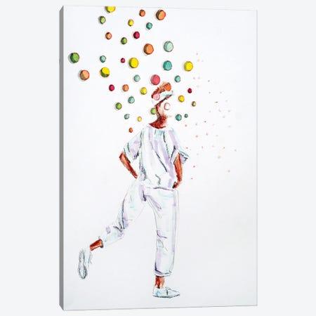 Walking Bubbles Canvas Print #IJO58} by Isabelle Joubert Canvas Artwork
