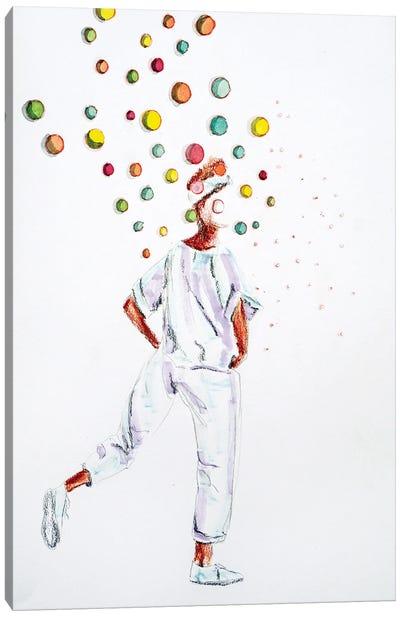 Walking Bubbles Canvas Art Print