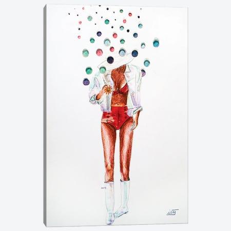 Bubble Aux Bottes Et Maillot Rouge Canvas Print #IJO61} by Isabelle Joubert Art Print