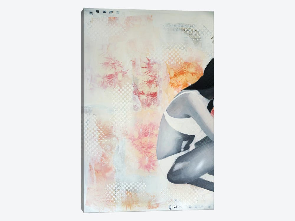 Chardons Roses by Isabelle Joubert 1-piece Canvas Artwork