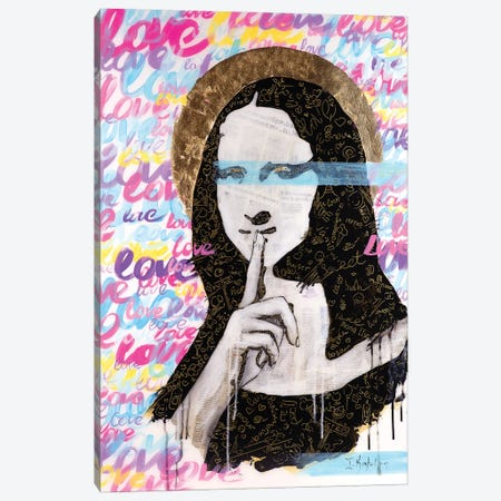 Mona's Secret Canvas Print #IKA10} by Iness Kaplun Art Print