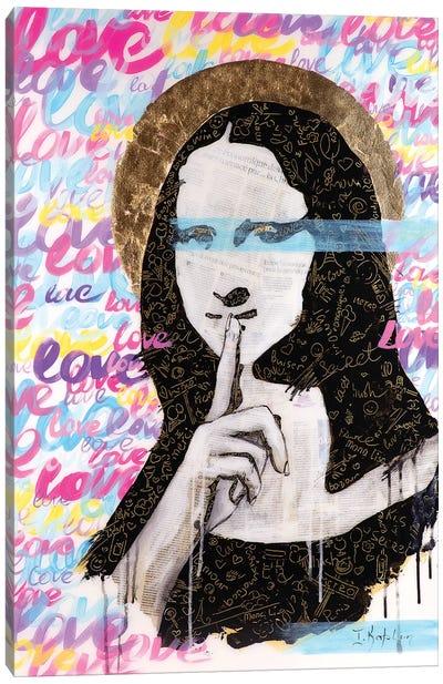 Mona's Secret Canvas Art Print