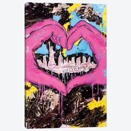 One Love Canvas Print #IKA14} by Iness Kaplun Canvas Art