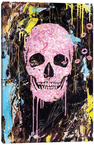Skull Kiss Canvas Art Print
