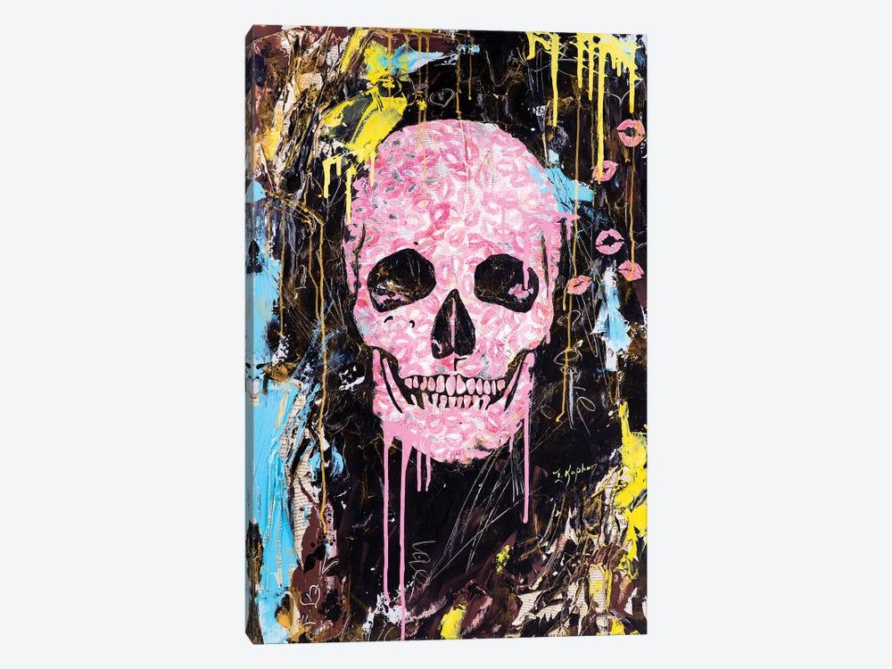 Skull Kiss by Iness Kaplun 1-piece Art Print