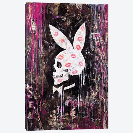 Playboy Bunny Canvas Print #IKA19} by Iness Kaplun Canvas Art Print
