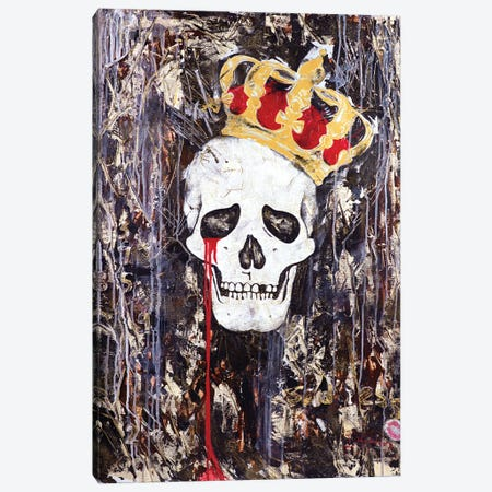 Crying King Canvas Print #IKA20} by Iness Kaplun Canvas Artwork