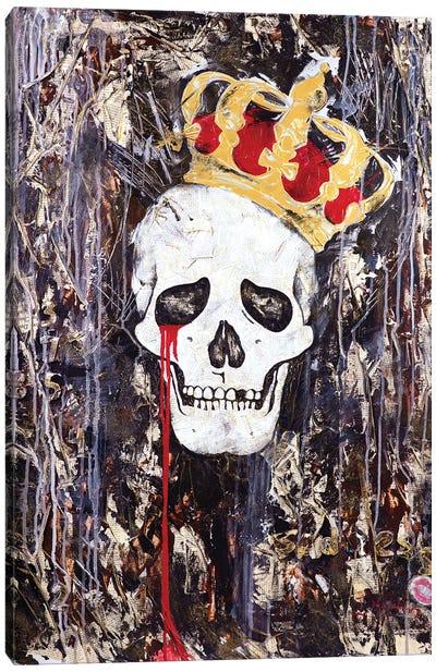 Crying King Canvas Art Print