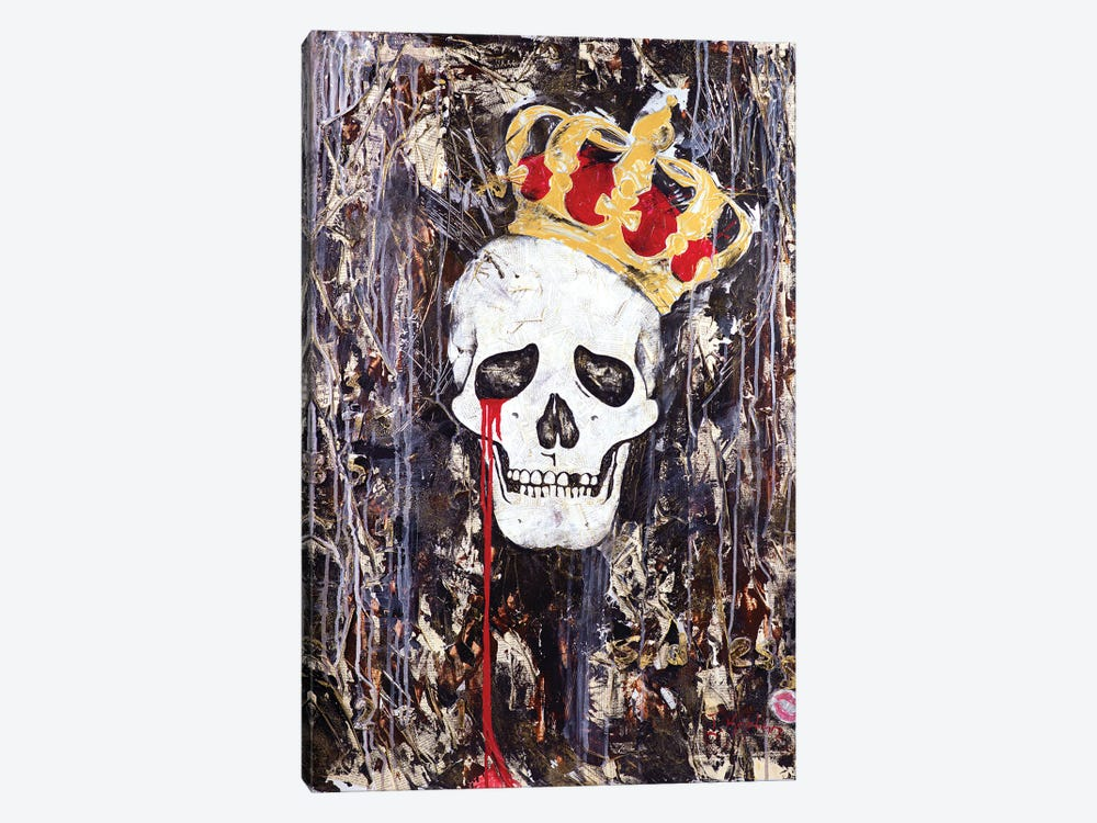 Crying King by Iness Kaplun 1-piece Canvas Print