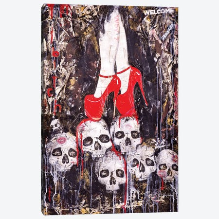 Skulls Canvas Print #IKA23} by Iness Kaplun Canvas Artwork
