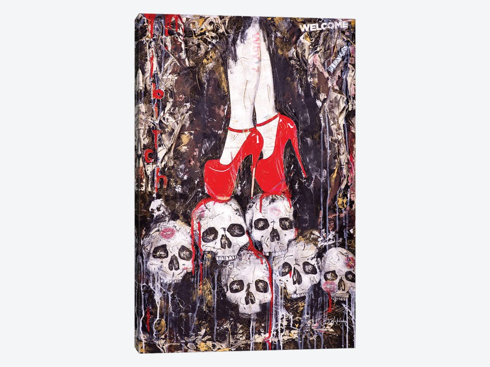 Skulls by Iness Kaplun 1-piece Canvas Wall Art
