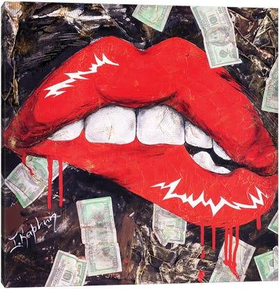 Biting Lips Canvas Art Print