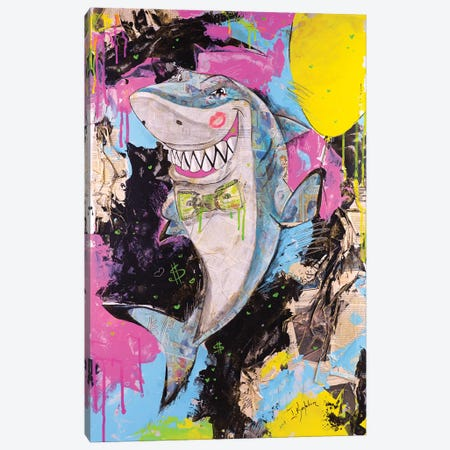 Shark Canvas Print #IKA27} by Iness Kaplun Canvas Art Print