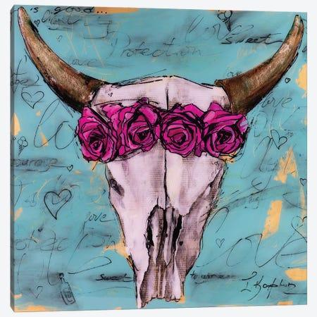 Bull Skull Canvas Print #IKA28} by Iness Kaplun Canvas Wall Art