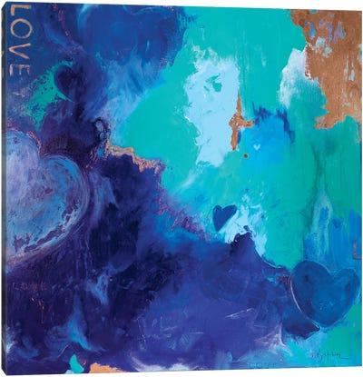 Blue Shades Of Love Canvas Art Print