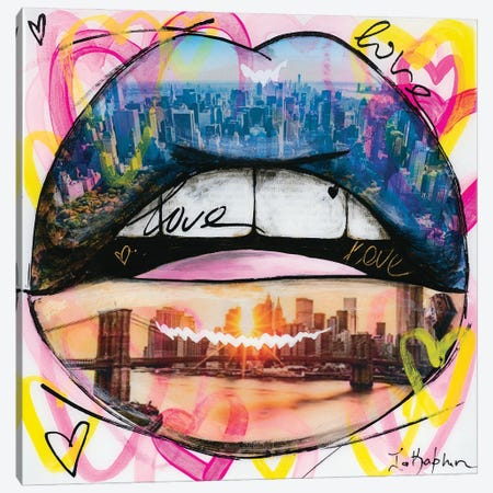 Love Lips Canvas Print #IKA31} by Iness Kaplun Canvas Art Print