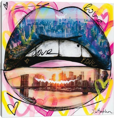 Love Lips Canvas Art Print