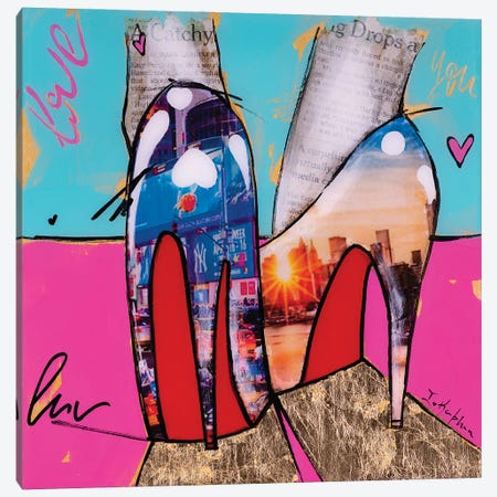 City Girl  Canvas Print #IKA32} by Iness Kaplun Art Print