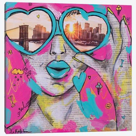 Love City Canvas Print #IKA37} by Iness Kaplun Canvas Art