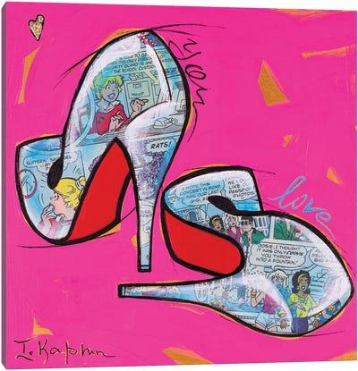 Louboutin Heels Canvas Art Print